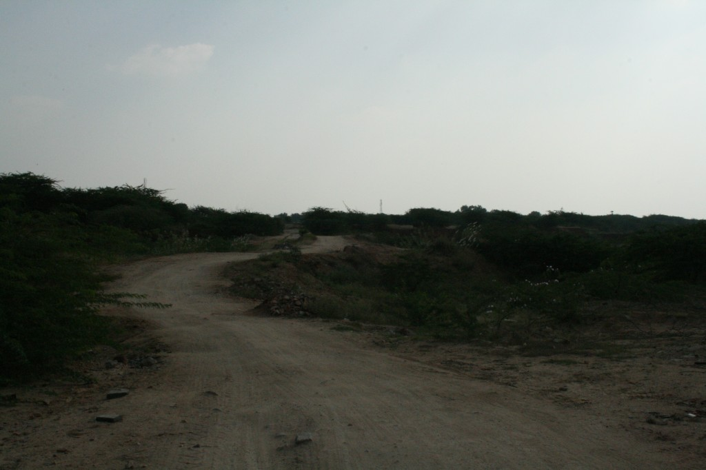 dirt track to nowhere (but google knows it)
