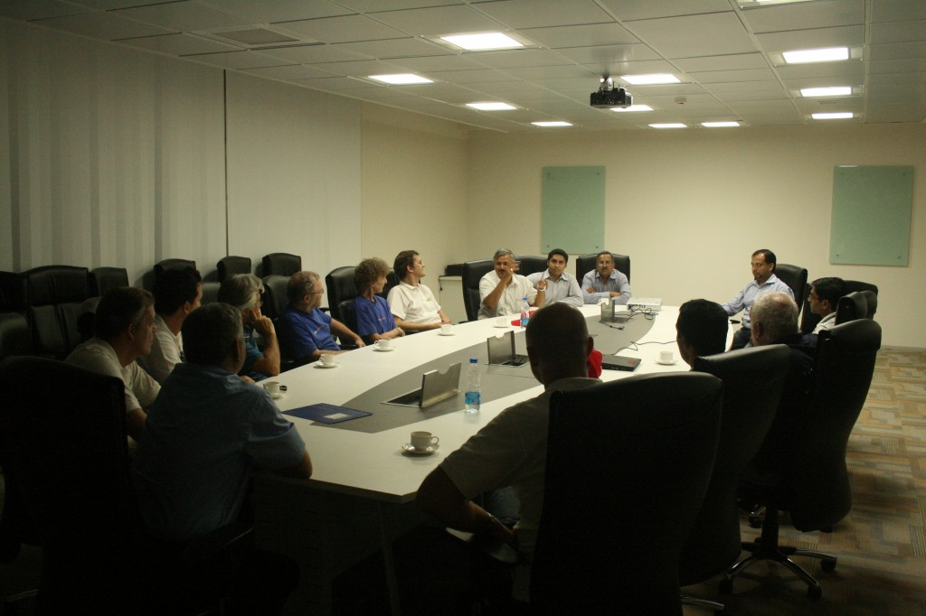 meeting reva ceo and higher management in board room