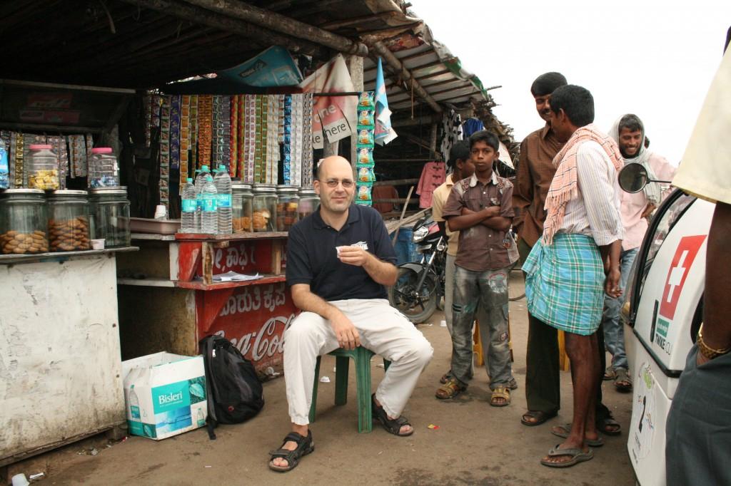 a roadside chai outside bangalore