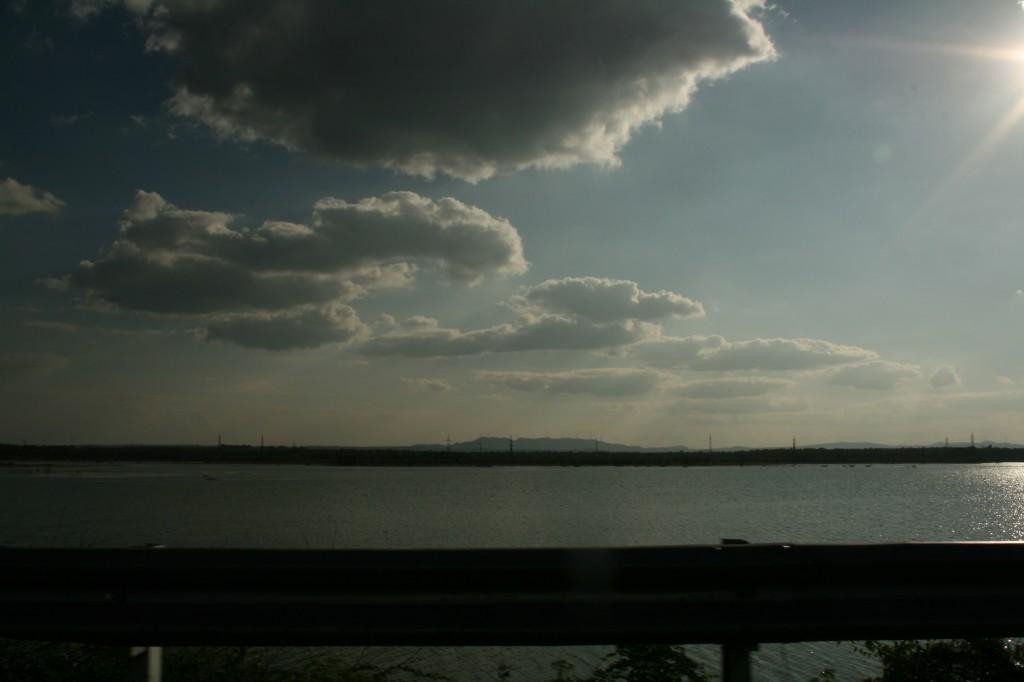 a lake en route