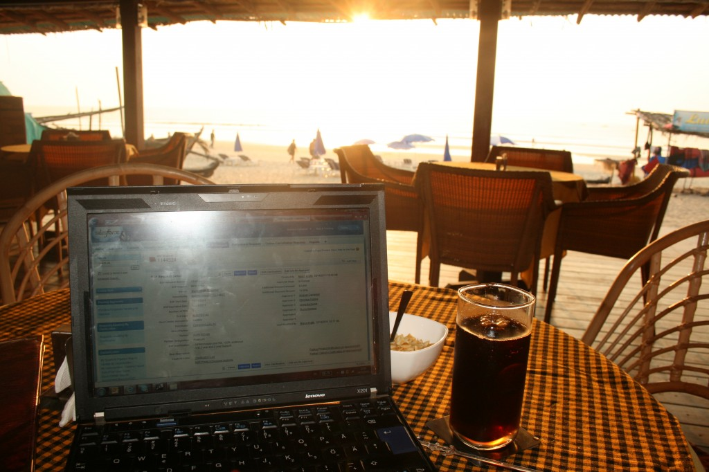 NSP approvals with honeybee/coke at the beach, what a combination!