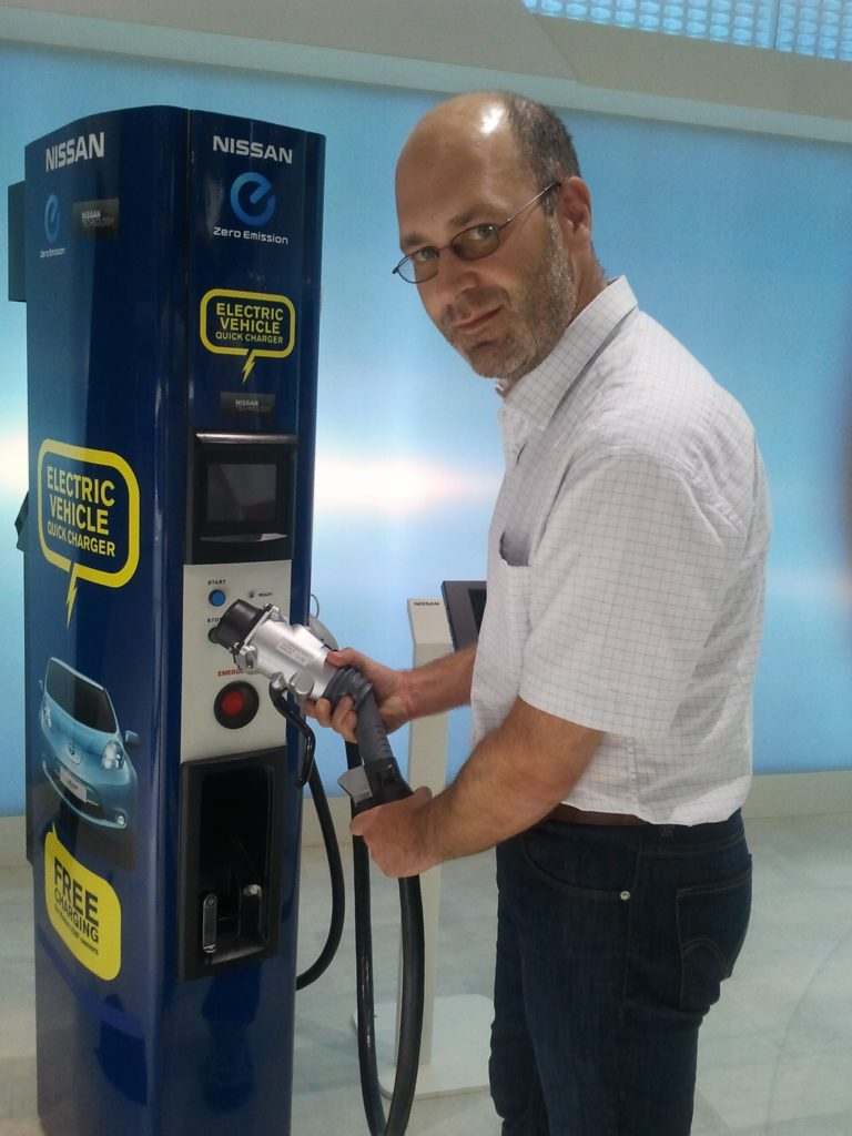 up close - chademo quick charging station