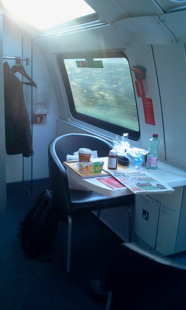 leather seats, shower, full-size bed, breakfast served - a hotel on rails!