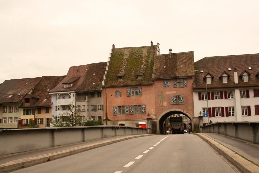 small swiss village en route