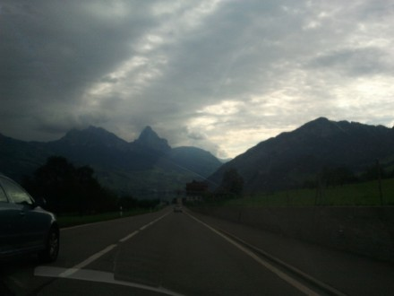 first sight of the swiss alps