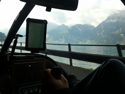 axenstrasse along the beautiful vierwalstätter-lake.
