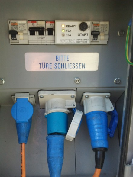 park & charge göschenen with brusa 32A plug.