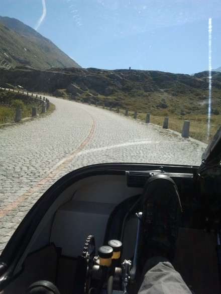 the old road up the gotthard - cobblestones are not very comfortable!