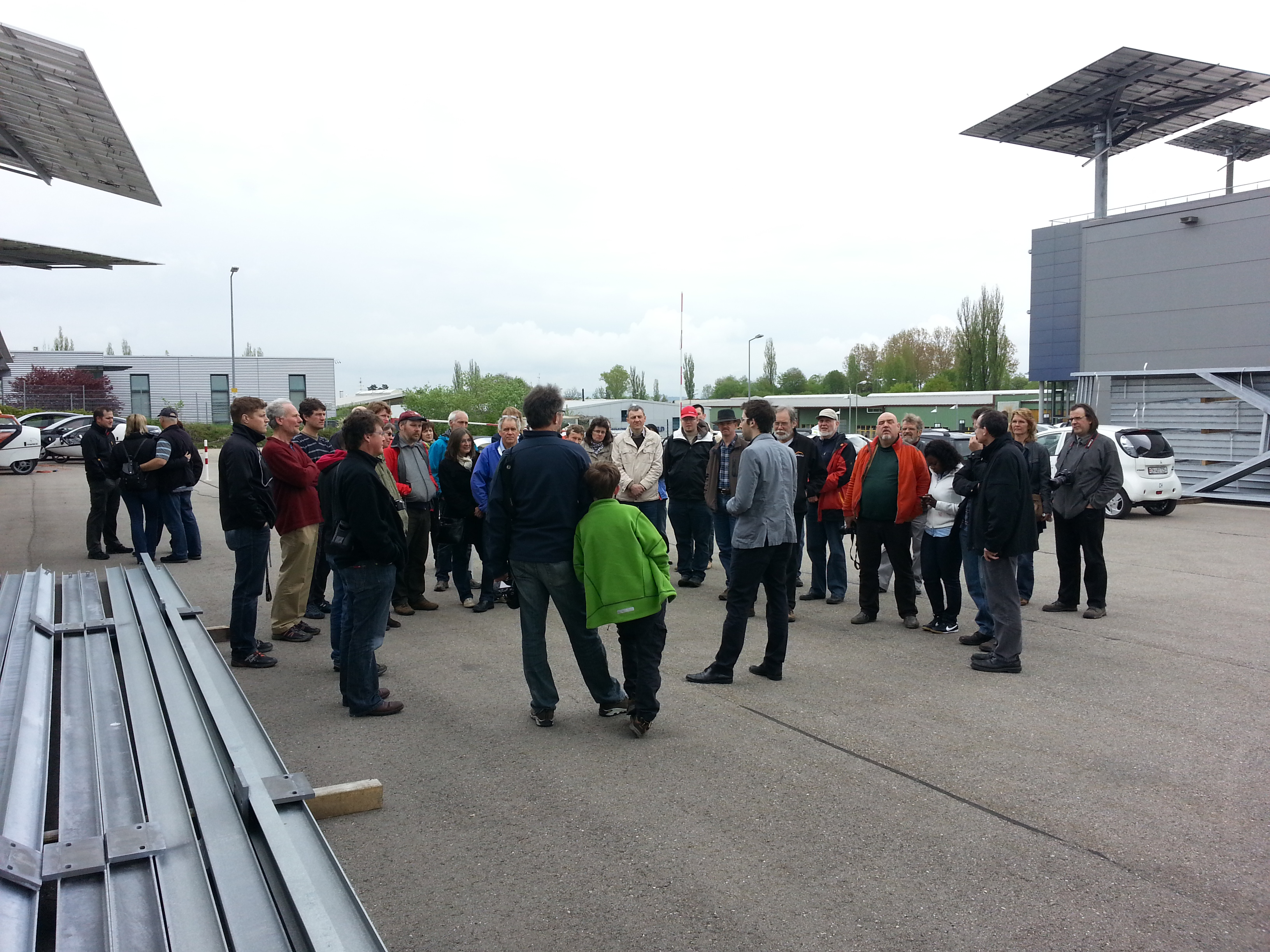 the TWIKE crowd slowly gathering on a grey morning