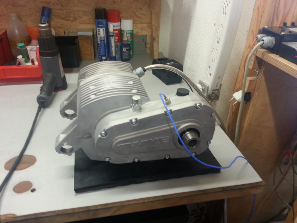 ABM motor testing after assembly