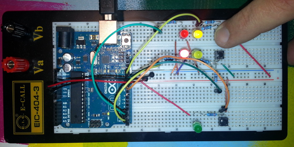 TW560 DRL Prototyping breadboard with one blinker active