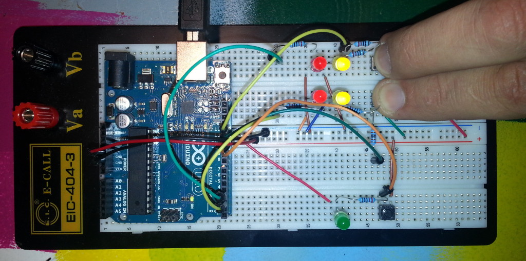 TW560 DRL Prototyping breadboard with hazards lights on