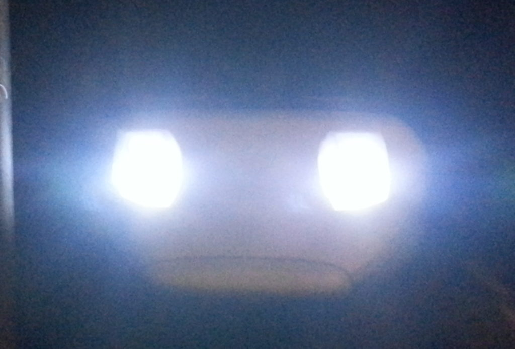 DRL nearly as bright as normal beam