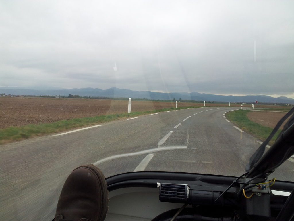 finally: the vogese mountain range comes into view