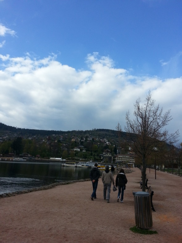 Gerardmer, suddenly the blue sky breaks through