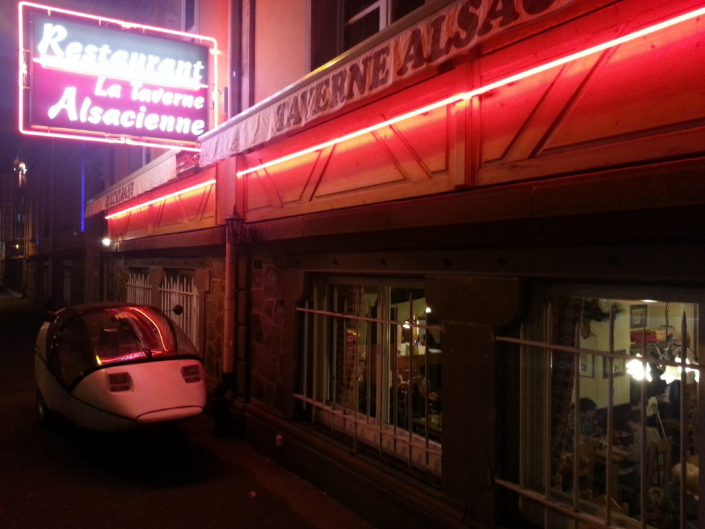 very good food at the taverne alsacienne