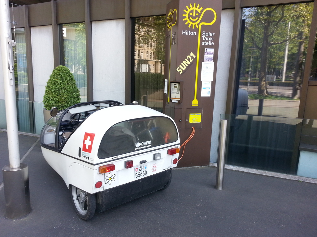 stylish co2-free charging @ hilton basle