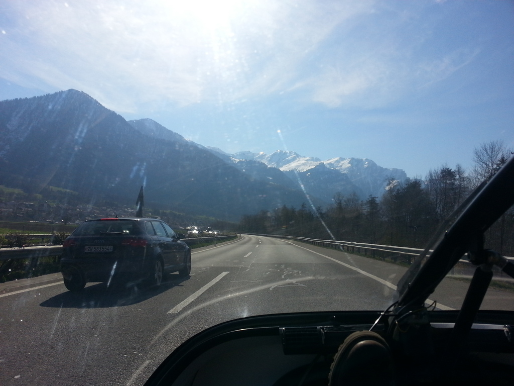 the alps, slowly coming closer!