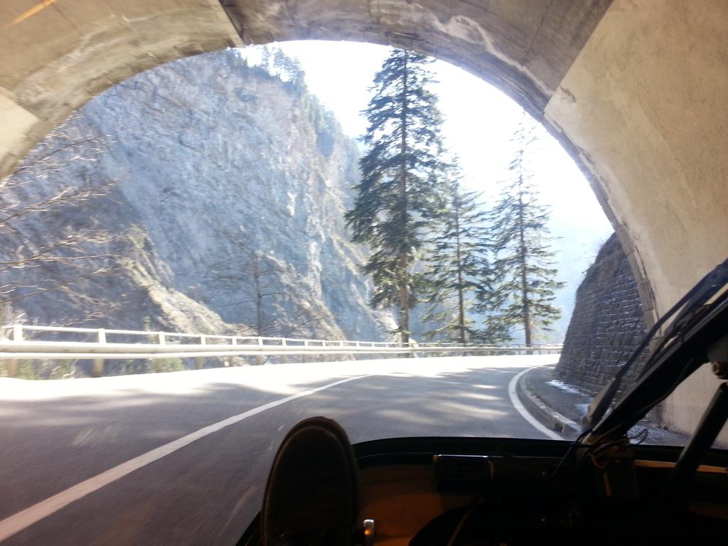 finally i'm climbing towards the st. bernardino.