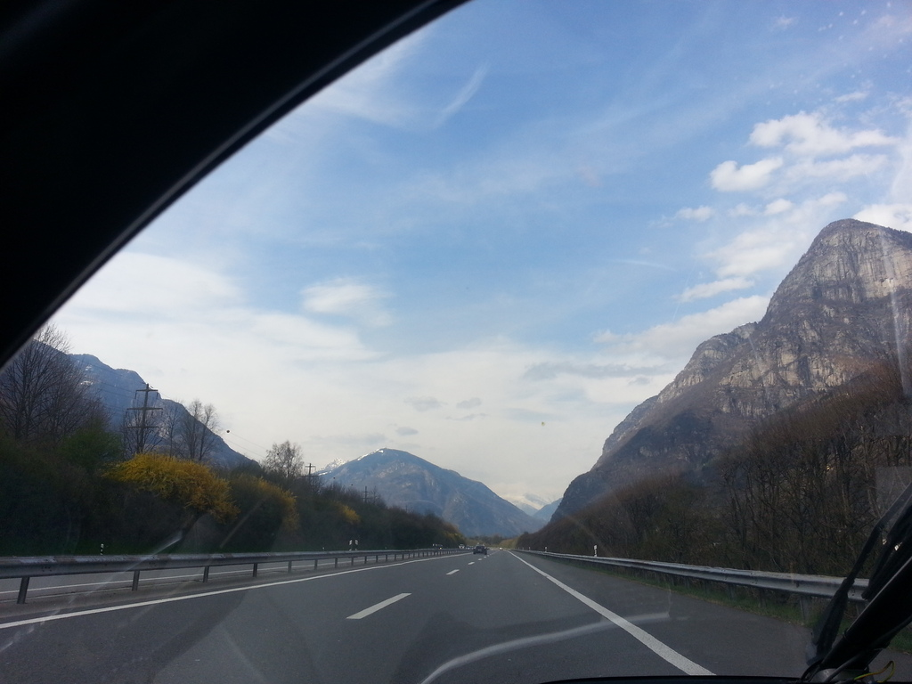 on my way back to the gotthard