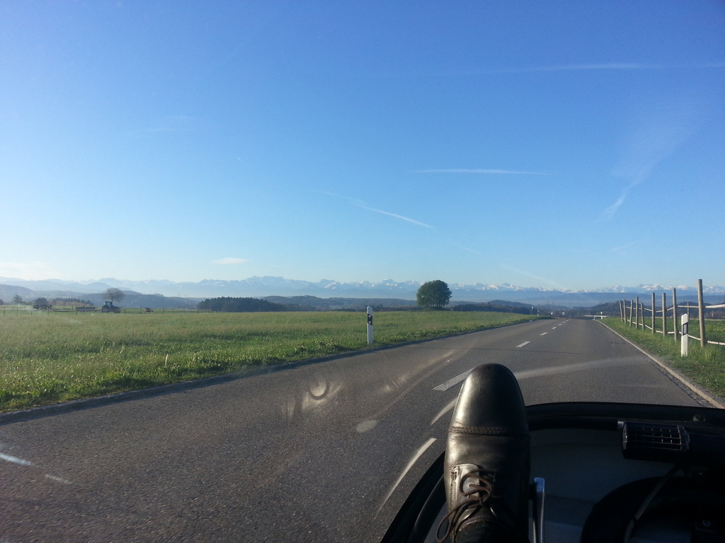 view of alps from the east to west