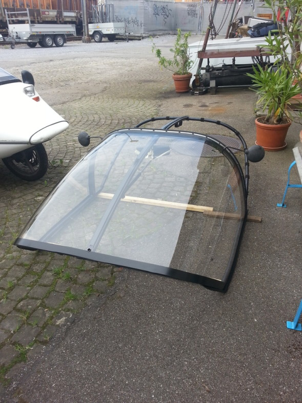 tadaaa: the world's last NEW plexi hood is ready for TW560!