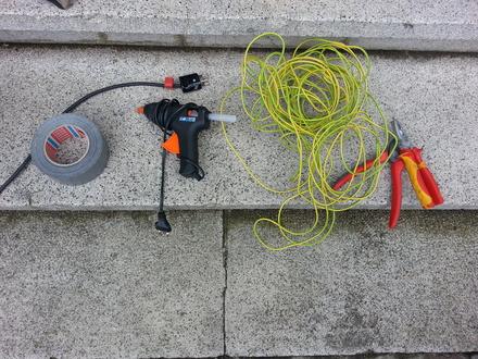our favourite repair tools: duct tape & the hot glue gun