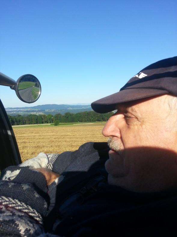 JC enjoying the ride