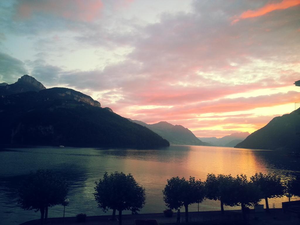 Beautiful Lake Vierwaldstätter - view from Brunnen