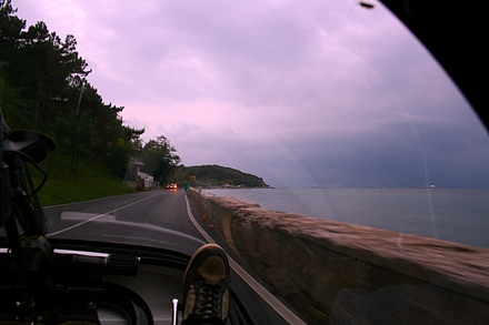 the coastal road from trieste towards slovenia