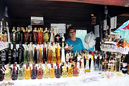 one of the rakija stalls