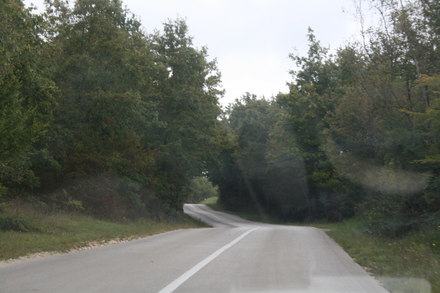rural croatia - endless roads, no people.