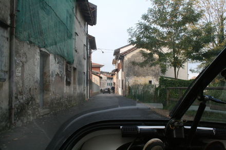 we drive from one sleepy village to the next