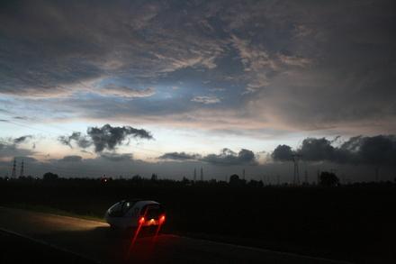 dramatic sunset outside of ostiglia