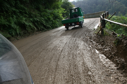 miles after miles of mud-covered roads