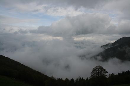 at the top of alpe di neggia