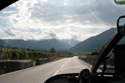 leaving liechtenstein, lower rhine valley