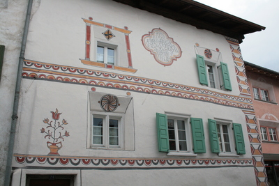 sgrafitto, a local art form
