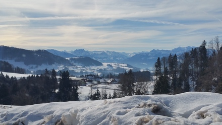 st. gallen mountain range with dramatic lighting