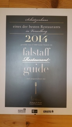 "our restaurant: ""one of the best in vorarlberg"""