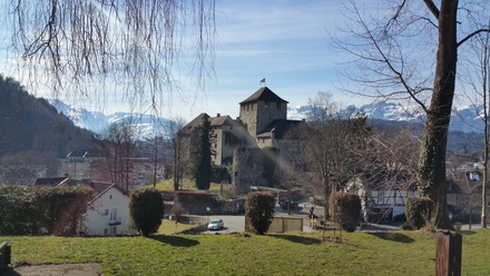 feldkirch's schattenburg - as seen from our restaurant