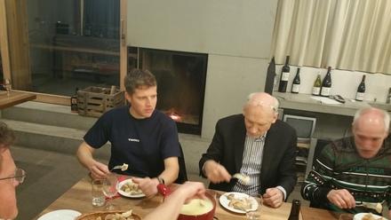 stephan and jos gasser enjoying the fondue