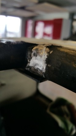 closeup of weld