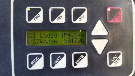 TWIKE computer: 154kms=5.8kWh