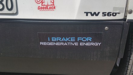 i break for regenerative energy!