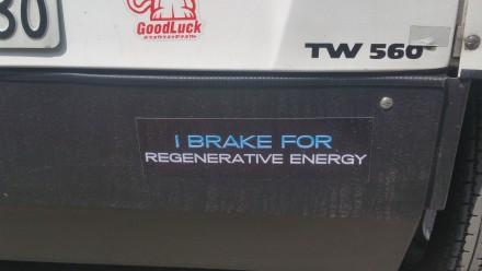i break for regenerative energy!