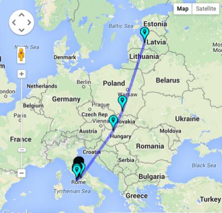 pan european travel for TDB2015