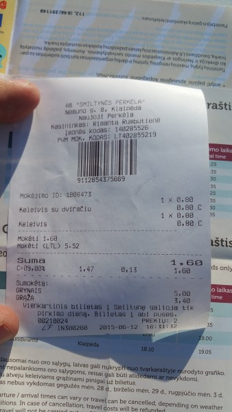 the return ticket for TW560, jc and myself costs €1.60!
