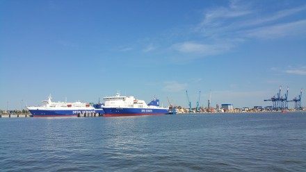 klaipeda harbour - seen from the ferry