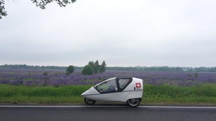 twike & lavender just outside kaliningrad